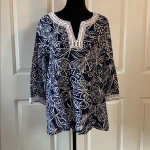 Blue/white tunic